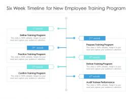 Six Week Timeline For New Employee Training Program