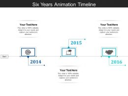 Six Years Animation Timeline