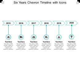 Six Years Chevron Timeline With Icons