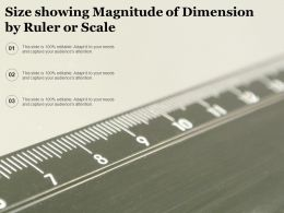 Size Showing Magnitude Of Dimension By Ruler Or Scale