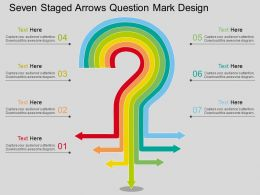 sj Seven Staged Arrows Question Mark Design Flat Powerpoint Design