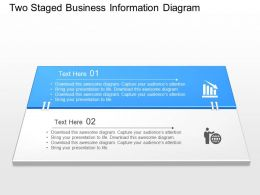 Sk Two Staged Business Information Diagram Powerpoint Template