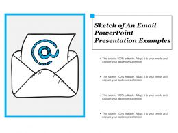 Sketch Of An Email Powerpoint Presentation Examples