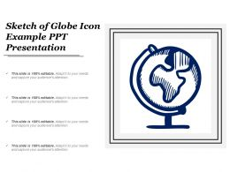 Sketch Of Globe Icon Example Ppt Presentation