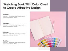 Sketching Book With Color Chart To Create Attractive Design