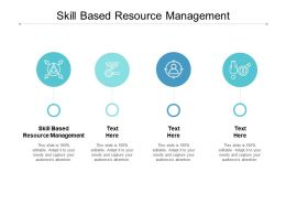 Skill Based Resource Management Ppt Powerpoint Presentation Infographics Graphics Cpb