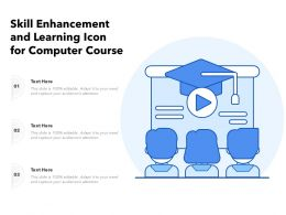 Skill Enhancement And Learning Icon For Computer Course