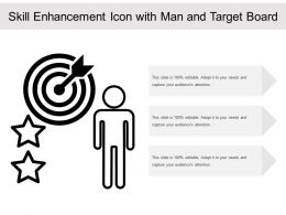 Skill Enhancement Icon With Man And Target Board