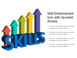Skill Enhancement Icon With Up Ward Arrows