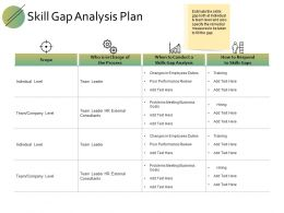 Skill Gap Analysis Plan Ppt Powerpoint Presentation File Design Templates
