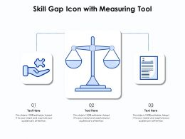 Skill Gap Icon With Measuring Tool