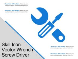 Skill Icon Vector Wrench Screw Driver
