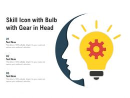 Skill Icon With Bulb With Gear In Head
