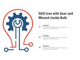 Skill Icon With Gear And Wrench Inside Bulb