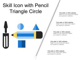 Skill Icon With Pencil Triangle Circle