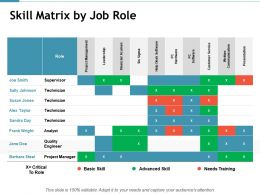 Skill Matrix By Job Role Project Management Powerpoint Presentation Inspiration Background