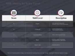 Skill Matrix By Score Level Score Skill Level Description
