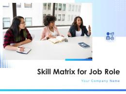 Skill Matrix For Job Role Powerpoint Presentation Slides