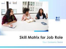 Skill Matrix For Job Role Powerpoint Presentation Slides
