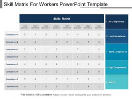 Skill Matrix For Workers PowerPoint Template