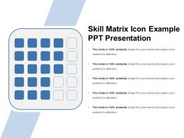 Skill Matrix Icon Example Ppt Presentation