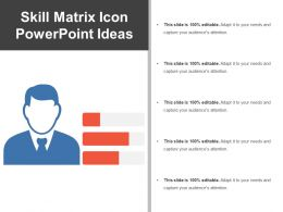 Skill Matrix Icon Powerpoint Ideas