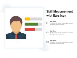Skill Measurement With Bars Icon