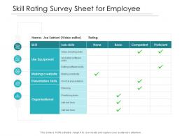 Skill Rating Survey Sheet For Employee
