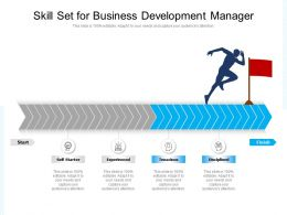 Skill Set For Business Development Manager