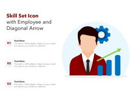 Skill Set Icon With Employee And Diagonal Arrow