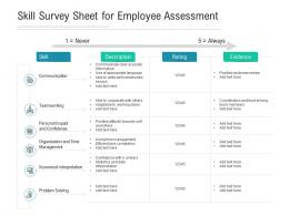 Skill Survey Sheet For Employee Assessment