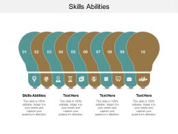 Skills Abilities Ppt Powerpoint Presentation Ideas Skills Cpb
