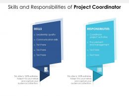 Skills And Responsibilities Of Project Coordinator