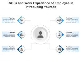 Skills And Work Experience Of Employee In Introducing Yourself Infographic Template