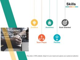 Skills Creative Assertive Ppt Powerpoint Presentation File Outline