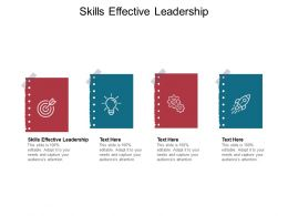 Skills Effective Leadership Ppt Powerpoint Presentation Pictures Cpb