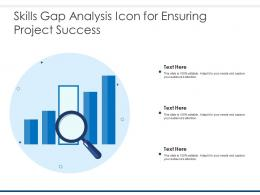 Skills Gap Analysis Icon For Ensuring Project Success