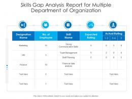 Skills Gap Analysis Report For Multiple Department Of Organization