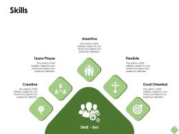 Skills Gears Ppt Powerpoint Presentation Pictures Slide Download