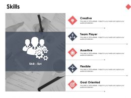 Skills Goal Oriented Ppt Powerpoint Presentation Infographic Template Background Images