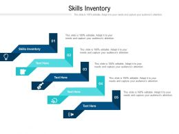 Skills Inventory Ppt Powerpoint Presentation Inspiration Slideshow Cpb