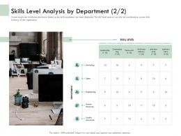 Skills Level Analysis By Department Engineering Ppt Icon Guide