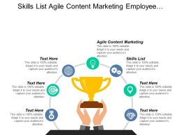 skills_list_agile_content_marketing_employee_advocacy_ideas_cpb_Slide01