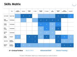 Skills Matrix Skill Ppt Powerpoint Presentation Portfolio Infographic Template