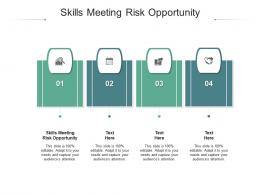 Skills Meeting Risk Opportunity Ppt Powerpoint Presentation Styles Styles Cpb