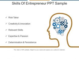 Skills Of Entrepreneur Ppt Sample
