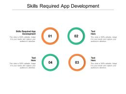 Skills Required App Development Ppt Powerpoint Presentation Slides Icon Cpb