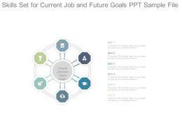 Skills Set For Current Job And Future Goals Ppt Sample File