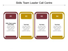 Skills Team Leader Call Centre Ppt Powerpoint Presentation Professional Slideshow Cpb