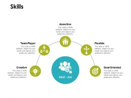Skills Team Player Goal Oriented Ppt Powerpoint Presentation Infographics Outline